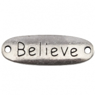 Charm 2 eyes believe Antique silver