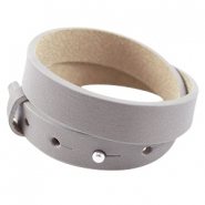 Double leather Cuoio bracelets 15mm for 20mm cabochon Velvet taupe