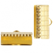 DQ metal laceclip 15mm Gold (nickel free)