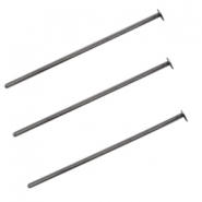 DQ metal headpin 25mm Silver anthracite (nickel free)