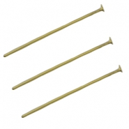 DQ metal headpin 25mm Antique bronze (nickel free)