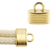 DQ metal end cap with loop for 5 mm (Dreamz) cord Gold