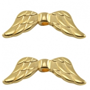 DQ metal bead angel wings Gold (nickel free)