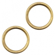 DQ metal closed ring 8x1.2mm Ø6mm Antique bronze (nickel free)