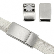 DQ metal magnetic clasp for 5/6 mm flat leather Antique silver (nickel free)
