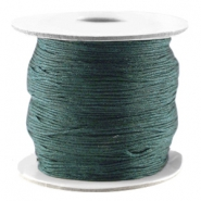 Macramé bead cord Dark green