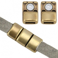 DQ metal magnetic clasp (for 5mm flat leather) Antique bronze (nickel free)