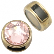 DQ metal slider for SS34 flatback and 7mm cabochon Antique bronze