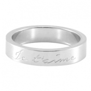 "Quote ring ""Je T'aime"" Silver"