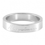 "Quote ring ""happiness"" Silver"