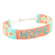 "Trendy beach bracelets ""hope"" Coral"