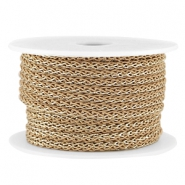 Fashion wire 4mm Light brown-gold