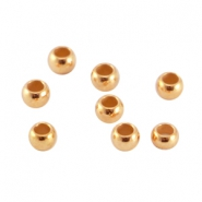 DQ metal crimp bead 3mm Rose gold (nickel free)