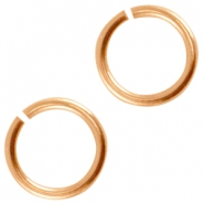DQ metal jumpring 6.5mm Rose gold (nickel free)
