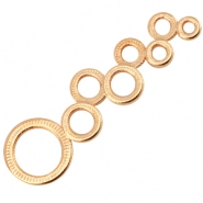 DQ metal connector circles Rose gold (nickel free)