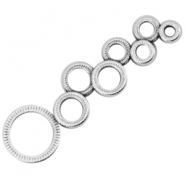 DQ metal connector circles Antique silver (nickel free)