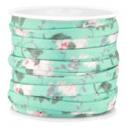 Trendy 5mm flat cord Mint green
