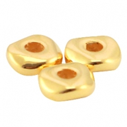 DQ metal bead 4.8x1.9mm Gold (nickel free)