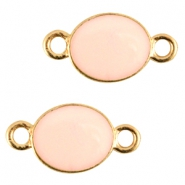 Oval metal connector Gold-light peach