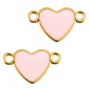 Heartshaped metal connector Gold-rose