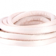 Stitched DQ silk cord 6x4mm Light rose