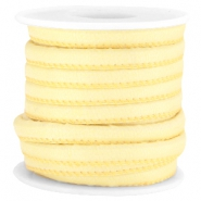 Trendy stitched Jean-Jean cord 6x4mm Summer yellow
