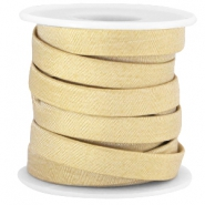 Trendy flat Jean-jean cord 10mm Golden beige