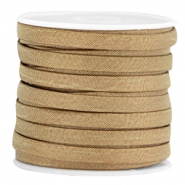 Trendy flat Jean-Jean cord 5mm Satin gold