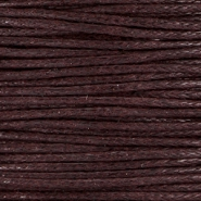 Waxed cord 1.0mm Dark brown