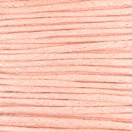 Waxed cord 1.0mm Pastel coral peach