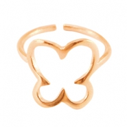 DQ metal ring butterfly 13mm Rose gold (nickel free)