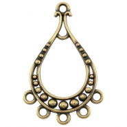 DQ metal pendant with 5 loops/rings Antique bronze (nickel free)