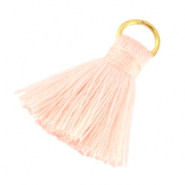 Small tassels with ring Peach