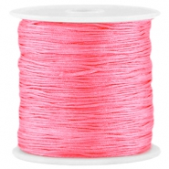 Macramé satin bead cord 0.8mm Raspberry rose