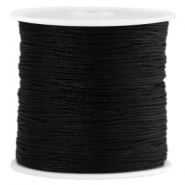 Macramé satin bead cord 0.8mm Black