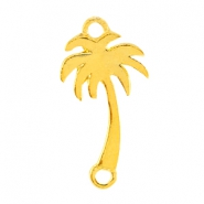 Small metal connector Palmtree Gold