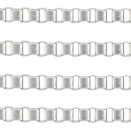 DQ metal box chain 3.0mm  Antique silver (nickel free)