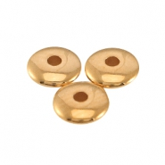 DQ metal beads disc 4x1.5mm Rose gold (nickel free)