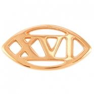 Oval DQ metal connector Roman #16 XVI Rose gold (nickel free)