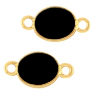 Oval metal connector Gold-black