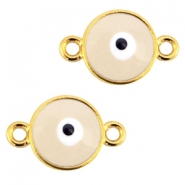 Metal connector evil eye Gold-beige