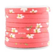 Trendy 5mm flat cord Dark coral pink