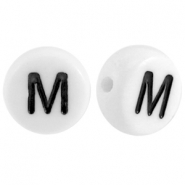 Acrylic letterbeads letter M White