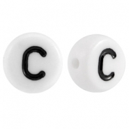 Acrylic letterbeads letter C White