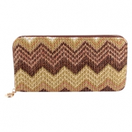 Aztec wallet Multicolor brown