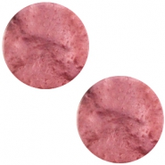 Flat 20mm Polaris cabochon Mosso shiny Antique pink