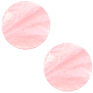 Flat 20mm Polaris cabochon Mosso shiny Pastel coral pink