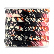 Trendy  flat 5mm cord Black pink