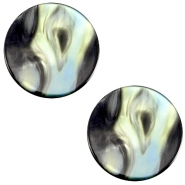 Flat Polaris Perseo cabochon 20mm  Antracite blue