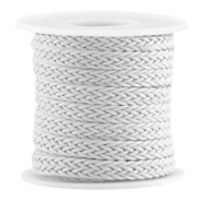 Woven waxed cord Light grey